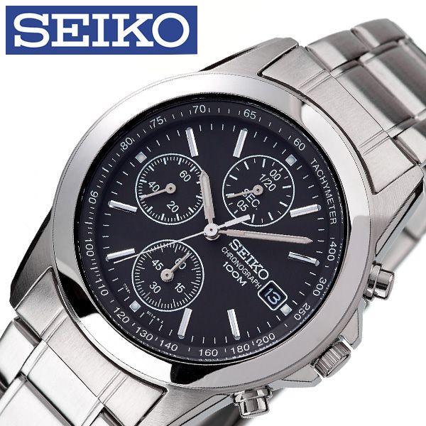 [あす楽]セイコー腕時計 SEIKO時計 SEIKO 腕時計 セイコー 時計 メンズ 男性 ブラック SND309P1 [ 人気 ブランド 逆輸入 定番 おしゃれ ファッション フォーマル スーツ 営業 商社 プレゼント ギフト ] 誕生日