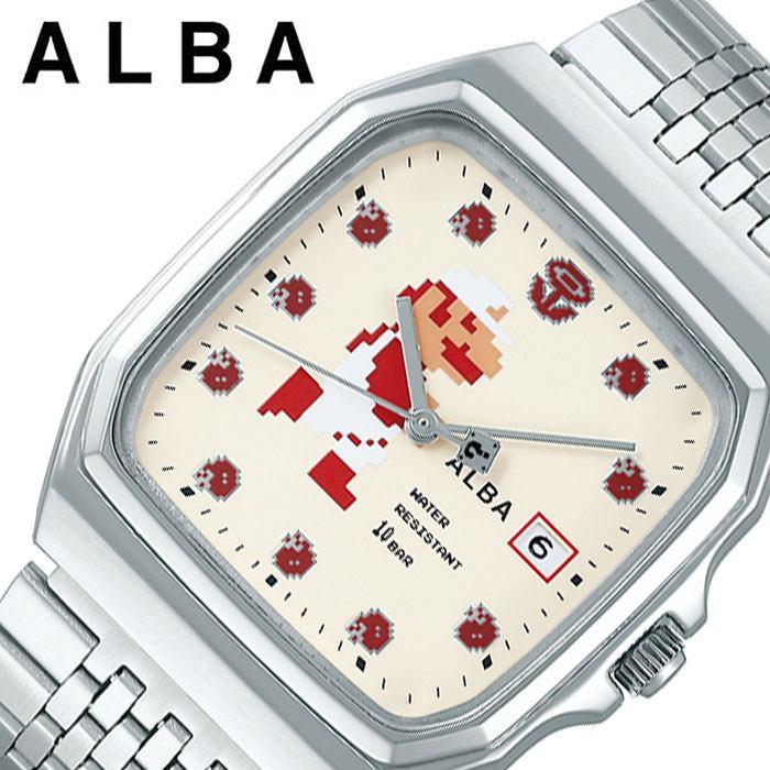 [あす楽 5年保証]セイコー腕時計 SEIKO時計 SEIKO 腕時計 セイコー 時計 アルバ ALBA ユニセックス メンズ レディース ホワイト 白 ACCK421 [ 人気 ブランド 防水 シンプル キャラクター カレンダー スーパーマリオ コラボ プレゼント ギフト ] 誕生日