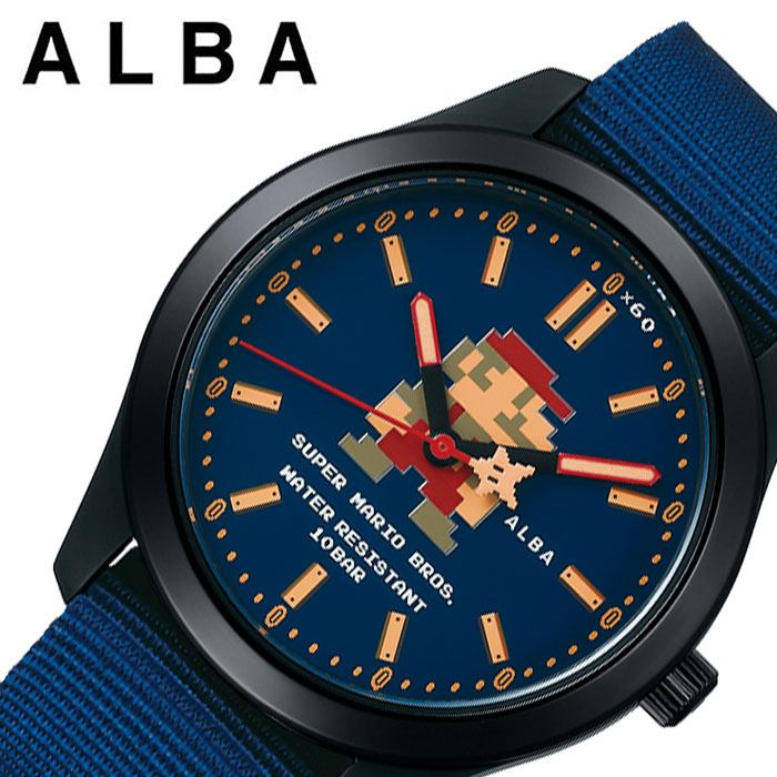 [当日出荷] [あす楽 5年保証]セイコー腕時計 SEIKO時計 SEIKO 腕時計 セイコー 時計 アルバ ALBA ユニセックス メンズ レディース ネイビー ACCK422 [ 人気 ブランド 防水 シンプル キャラクター カレンダー スーパーマリオ コラボ プレゼント ギフト ] 誕生日