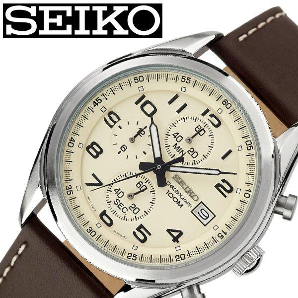 [当日出荷] セイコー腕時計 SEIKO時計 SEIKO 腕時計 セイコー 時計 メンズ ホワイト 白 SSB273P1 [ 人気 ブランド おすすめ 防水 革ベルト レザー ベルト カレンダー 限定 社会人 スーツ 仕事 ビジネス時計 彼氏 大人 かっこいい カジュアル 上品 プレゼント ギフト ]