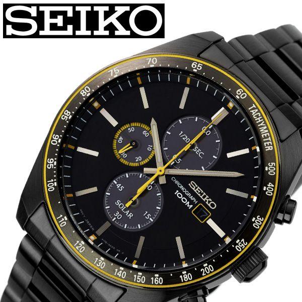 【SALE】(10%OFF) 割引 セール 安い セイコー腕時計 SEIKO時計 SEIKO 腕時計 セイコー 時計 メンズ ブラック 黒 SSC723P1 [ ブランド 防水 ソーラー ステンレスベルト 限定 スーツ 仕事 ビジネス時計 カレンダー 彼氏 かっこいい おしゃれ 上品 プレゼント ギフト ]