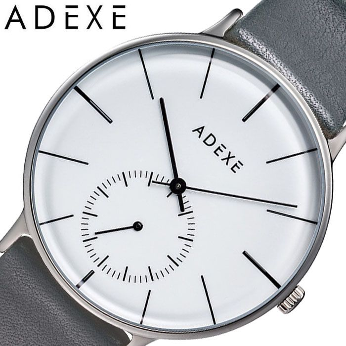 アデクス腕時計 ADEXE時計 ADEXE 腕時計 アデクス 時計 グランデ GRANDE メンズ ホワイト 1868E-T02 [ 正規品 人気 ブランド 流行 インスタ インスタ映え オシャレ ファッション お揃い ペア おそろい 北欧 上品 シンプル スーツ プレゼント ギフト ]