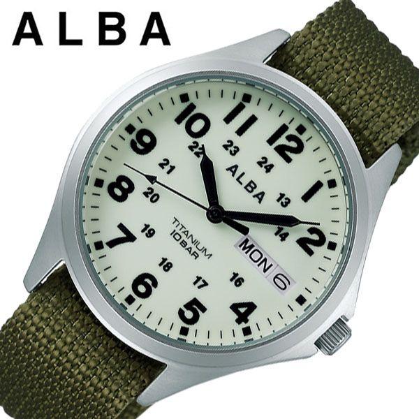 [当日出荷] [あす楽 5年保証]セイコー腕時計 SEIKO時計 SEIKO 腕時計 セイコー 時計 アルバ ALBA メンズ ベージュ AQPJ403 [ ブランド おすすめ 防水 軽量 スポーツ アウトドア ファッション おしゃれ カジュアル プレゼント ギフト ] 誕生日