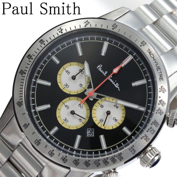 [当日出荷] ポールスミス腕時計 Paulsmith時計 Paulsmith 腕時計 ポールスミス 時計 メンズ ブラック 黒 PS0110007 [ 人気 ブランド 防水 クロノグラフ オシャレ ファッション 上品 シンプル クラシカル スーツ カジュアル 大学生 彼氏 プレゼント ギフト ]