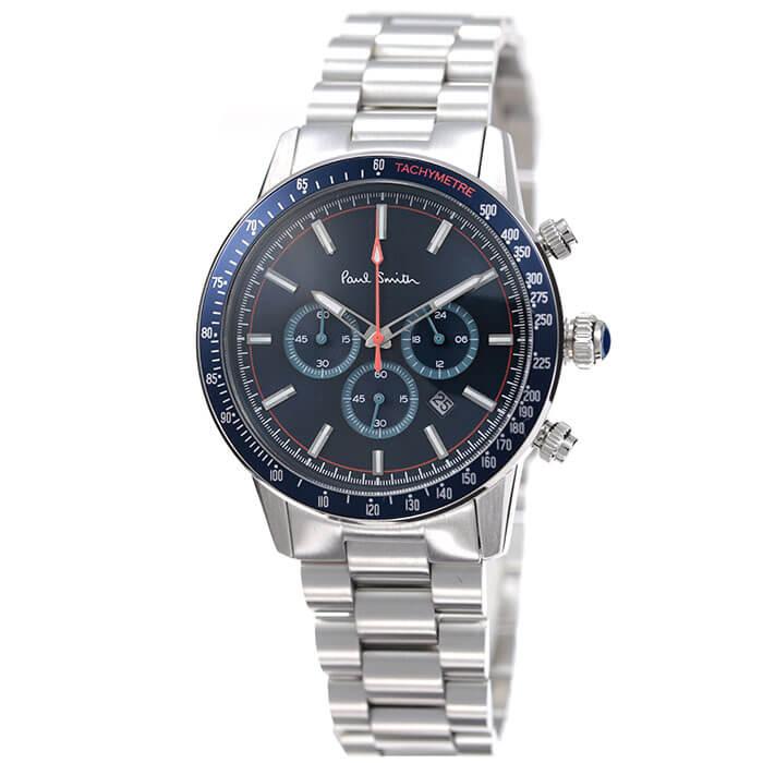 ポールスミス腕時計 Paulsmith時計 Paulsmith 腕時計 ポールスミス 時計 メンズ ブルー PS0110009 [ 人気 ブランド 防水 クロノグラフ オシャレ ファッション 上品 シンプル クラシカル スーツ カジュアル 大学生 彼氏 プレゼント ギフト ]