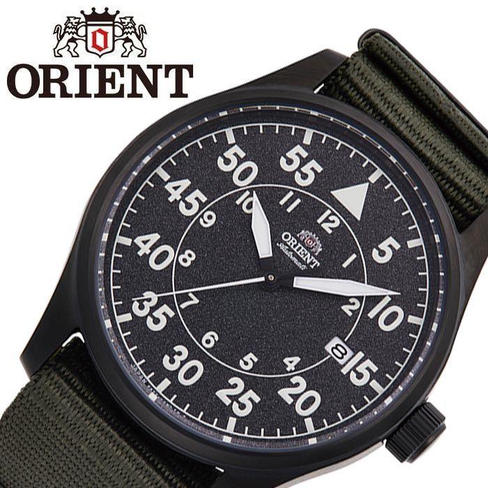 [5年保証]オリエント腕時計 ORIENT時計 ORIENT 腕時計 オリエント 時計 SPORTS メンズ ブラック RN-AC0H02N [ 正規品 ブランド 防水 機械式 メカニカル 自動巻き 自動巻 カレンダー 日本製 ナイロンベルト シンプル プレゼント ギフト ]