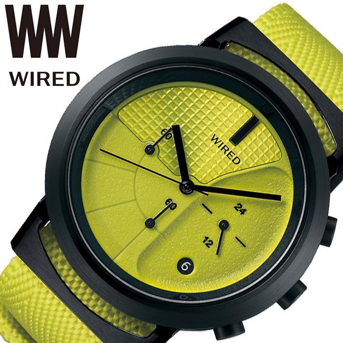 セイコー腕時計 SEIKO時計 SEIKO ALBA 腕時計 セイコー アルバ 時計 ワイアード ツーダブタイプ 03 WIRED WW TYPE 03 メンズ 男性 ライムイエロー AGAT436 [ 正規品 ブランド 防水 ストップウォッチ おしゃれ プレゼント ギフト ]