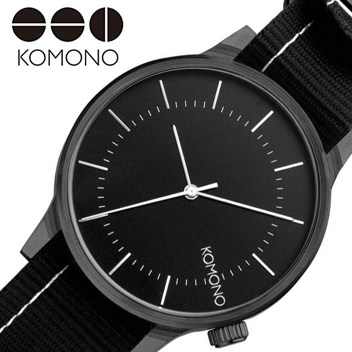 [当日出荷] コモノ腕時計 KOMONO時計 KOMONO 腕時計 コモノ 時計 ウインストン リーガル WINSTON REGAL レディース 女性 ブラック KOM-W2272 [ 人気 ブランド おすすめ カジュアル おしゃれ 個性的 シンプル シック プレゼント ギフト ]PT10