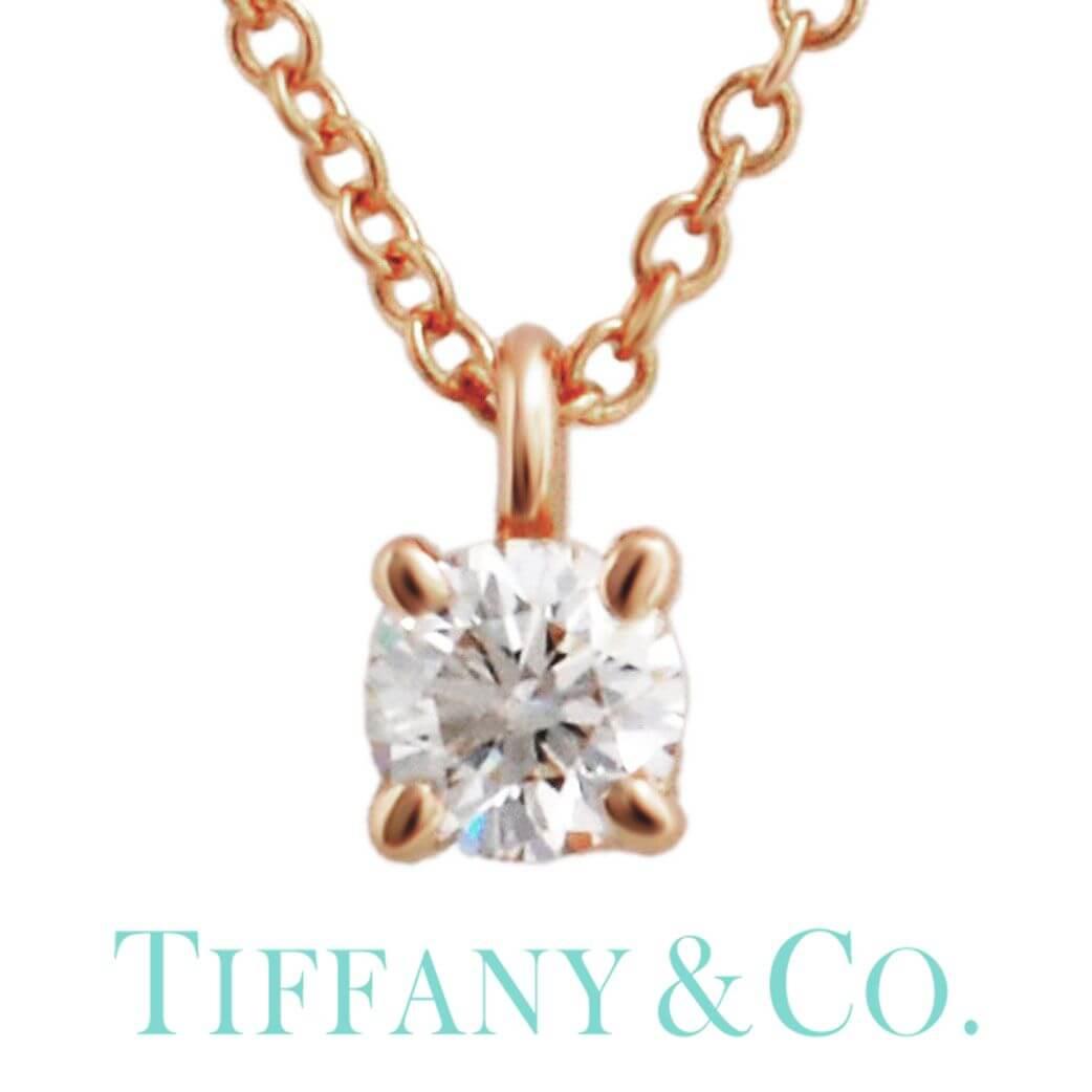 ( 18金 金属アレルギー 安心 ) Tiffany&co ネックレス TIFFANY Tiffany ジュエリー ティファニー ネックレス ソリティア Tiffany Solitaire レディース シンプル 30223942 [ 女性 彼女 誕生日 プレゼント ギフト おしゃれ 人気 ダイヤモンド K18 ] TNE