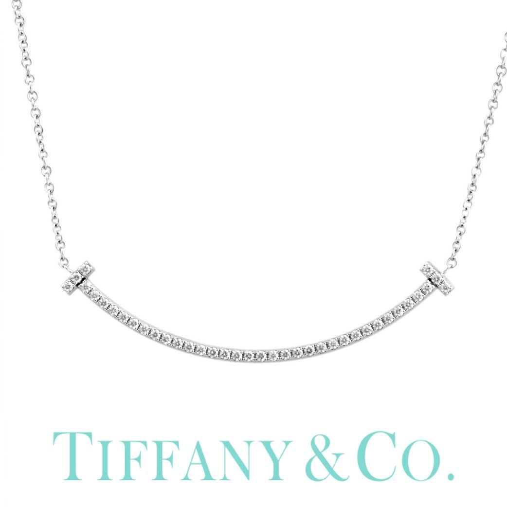 ( 18金 金属アレルギー 安心 ) Tiffany&co ネックレス TIFFANY Tiffany ジュエリー ティファニー ネックレス Tiffany T レディース シンプル 63058807 [ 女性 彼女 誕生日 プレゼント ギフト おしゃれ 人気 ミニ ダイヤモンド K18 ] TNE