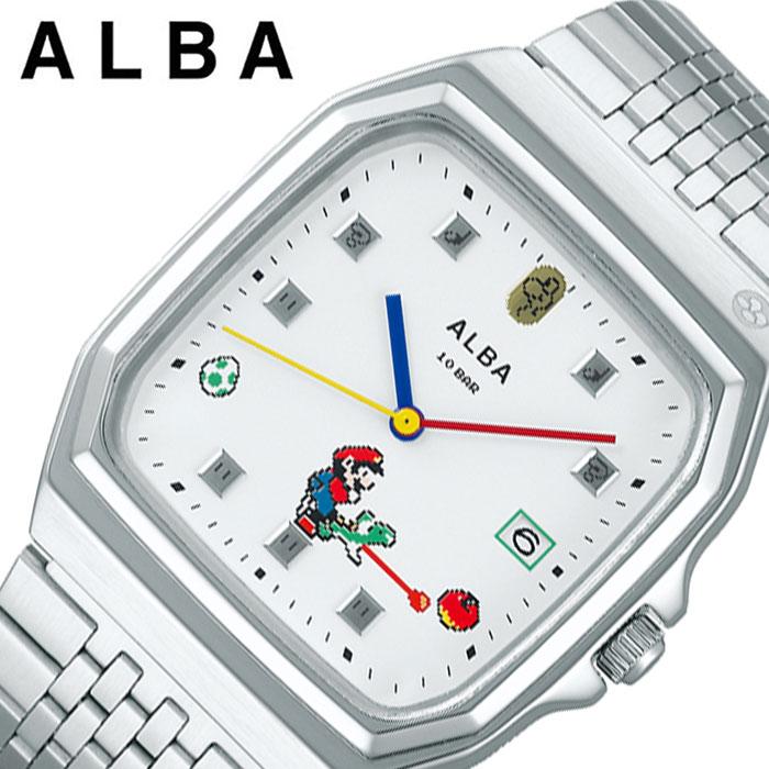 [5年保証]セイコー腕時計 SEIKO時計 SEIKO 腕時計 セイコー 時計 アルバ ALBA メンズ ホワイト ACCK425 [ 人気 ブランド カジュアル おしゃれ キャラクター ゲーム ファミコン スーパーマリオ マリオ レトロ レア プレゼント ギフト ]