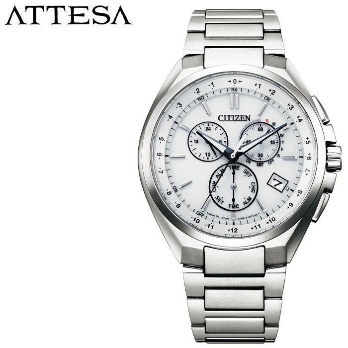 [5年保証]シチズン腕時計 CITIZEN時計 CITIZEN 腕時計 シチズン 時計 アテッサ ATTESA メンズ ホワイト CB5040-80A [ 人気 ブランド 正規品 ソーラー 電波時計 エコドライブ ECO DRIVE スーツ ビジネス フォーマル カジュアル プレゼント ギフト ]
