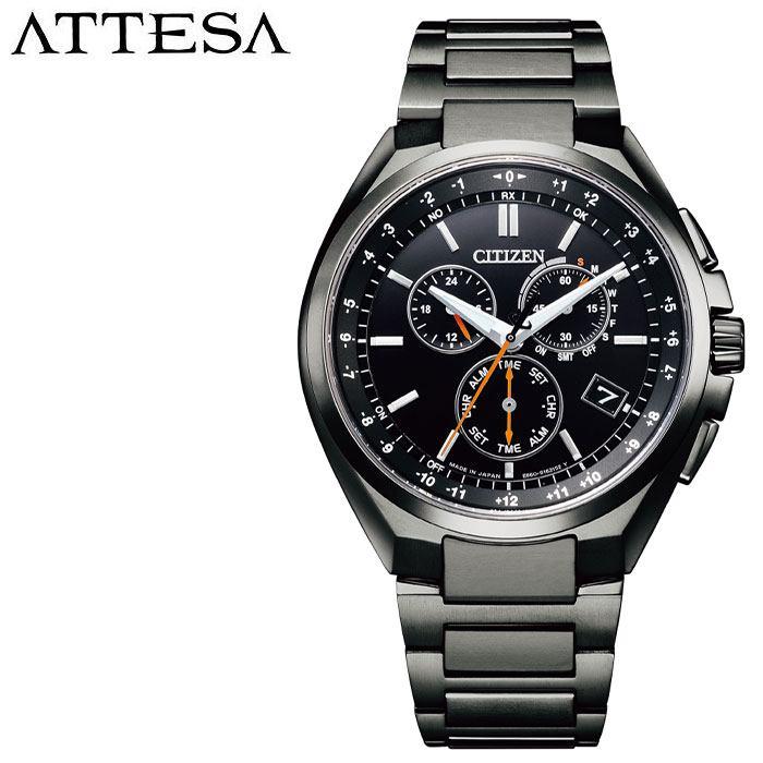 [5年保証]シチズン腕時計 CITIZEN時計 CITIZEN 腕時計 シチズン 時計 アテッサ ATTESA メンズ ブラック CB5045-60E [ 人気 ブランド 正規品 ソーラー 電波時計 エコドライブ ECO DRIVE スーツ ビジネス フォーマル カジュアル プレゼント ギフト ]