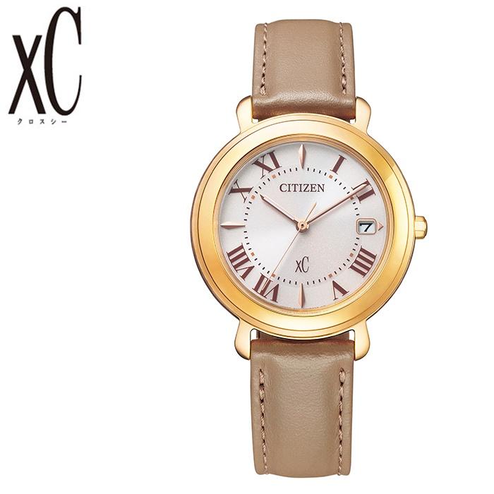[5年保証]シチズンクロスシー腕時計 CITIZENxC時計 CITIZEN xC 腕時計 シチズン クロスシー 時計 レディース ベージュ EO1203-03A [ 正規品 人気 エコドライブ ソーラー ブランド シンプル 大人 キレイ 可愛い オシャレ ファッション 仕事 スーツ プレゼント ギフト ]