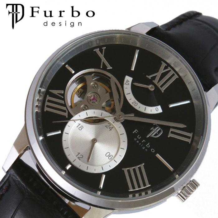 [当日出荷] [5年保証]フルボデザイン腕時計 Furbodesign時計 Furbo design 腕時計 フルボ デザイン 時計 TIMENT メンズ ブラック F8401BKBK [ 人気 ブランド おしゃれ ファッション カジュアル スーツ ビジネス フォーマル 機械式 プレゼント ギフト ]