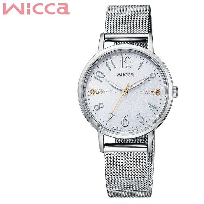 [5年保証]シチズンウィッカ腕時計 CITIZENWicca時計 CITIZEN Wicca 腕時計 シチズン ウィッカ 時計 レディース ホワイト KP5-115-11 [ 正規品 人気 ソーラー ブランド シンプル 大人 キレイ 可愛い オシャレ ファッション 仕事 スーツ プレゼント ギフト ]