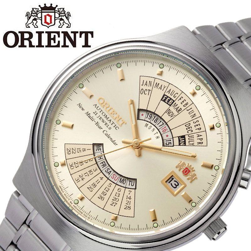 オリエント腕時計 ORIENT時計 ORIENT 腕時計 オリエント 時計 父の日 メンズ ホワイト ORW-FEU00002CW [ ブランド 就活時計 人気 海外モデル 防水 日付カレンダー レトロ クラシカル 自動巻き 機械式 ステンレス ベルト ビジネス 仕事 誕生日 プレゼント 記念日 ]