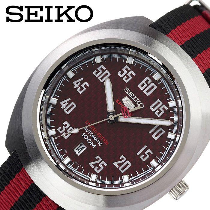 [当日出荷] セイコー腕時計 SEIKO時計 SEIKO 腕時計 セイコー 時計 セイコーファイブ SEIKO5 メンズ レッド SEIKOW-SRPA87K1 [ 人気 ブランド おすすめ 防水 逆輸入 社会人 スーツ フォーマル ビジネス おしゃれ カジュアル スタイリッシュ プレゼント ギフト ]
