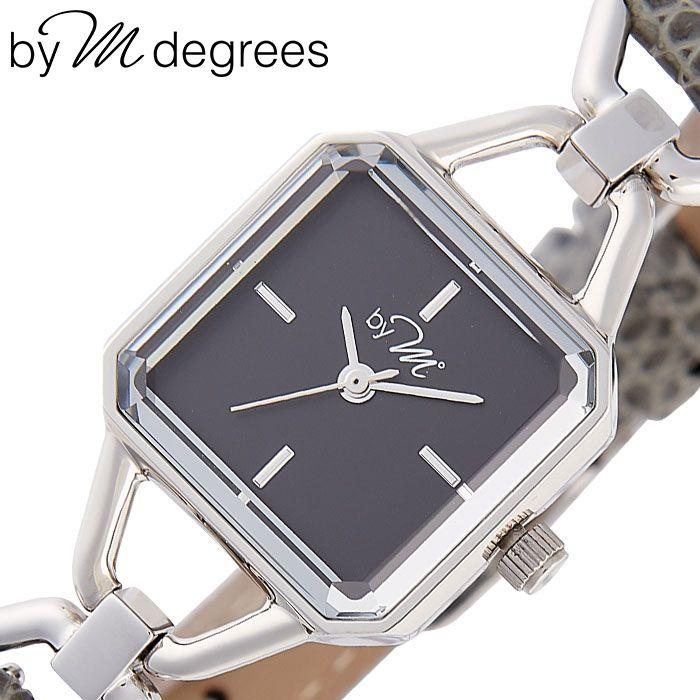 バイエムディグリース腕時計 by M° 時計 by M degrees バイエムディグリース 時計 華奢 スクエア型 小さい 腕時計 革ベルト レディース 30代 40代 女性 ブラック WL002GY [ 人気 ブランド レザー レトロ アンティーク 調 かわいい おしゃれ 大人 仕事 誕生日 プレゼント ]