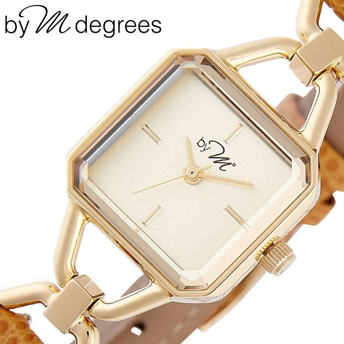 バイエムディグリース腕時計 by M° 時計 by M degrees バイエムディグリース 時計 華奢 スクエア型 小さい 腕時計 革ベルト レディース 30代 40代 女性 シャンパン WL003LB [ 人気 ブランド レザー レトロ アンティーク 調 かわいい おしゃれ 大人 仕事 誕生日 プレゼント ]