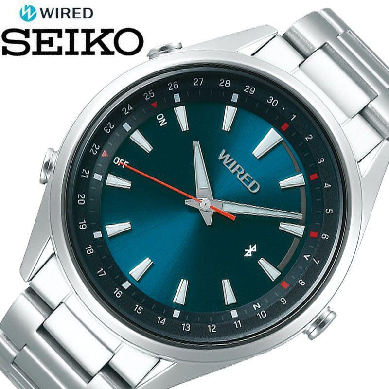 [5年保証] セイコー腕時計 SEIKO時計 SEIKO 腕時計 セイコー 時計 ワイアード トウキョウ ソラ WIRED TOKYO SORA メンズ 男性 ブルーグリーン AGAB410 [ 正規品 ブランド 東京 空 防水 Bluetooth スマートフォン 簡単 ビジネス シンプル おしゃれ プレゼント ギフト ]