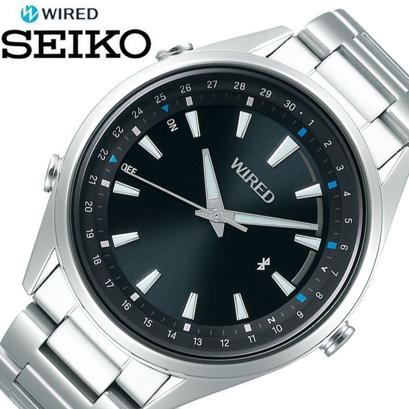 [5年保証] セイコー腕時計 SEIKO時計 SEIKO 腕時計 セイコー 時計 ワイアード トウキョウ ソラ WIRED TOKYO SORA メンズ 男性 ブラック AGAB411 [ 正規品 ブランド 東京 空 防水 Bluetooth スマートフォン 簡単 ビジネス シンプル おしゃれ 誕生日 プレゼント ギフト ]
