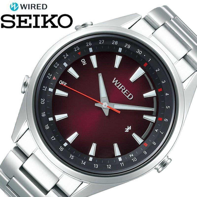 [5年保証] セイコー腕時計 SEIKO時計 SEIKO 腕時計 セイコー 時計 ワイアード トウキョウ ソラ WIRED TOKYO SORA メンズ 男性 レッド AGAB412 [ 正規品 ブランド 東京 空 防水 Bluetooth スマートフォン 簡単 ビジネス シンプル おしゃれ 誕生日 プレゼント ギフト ]