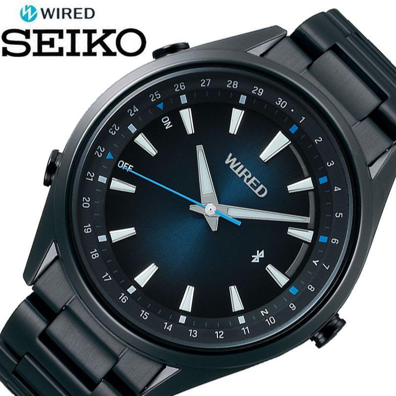 [5年保証] セイコー腕時計 SEIKO時計 SEIKO 腕時計 セイコー 時計 ワイアード トウキョウ WIRED TOKYO SORA メンズ 男性 ブルー AGAB413 [ 正規品 ブランド 東京 空 防水 Bluetooth スマートフォン 簡単 ビジネス シンプル おしゃれ 誕生日 プレゼント ギフト ]