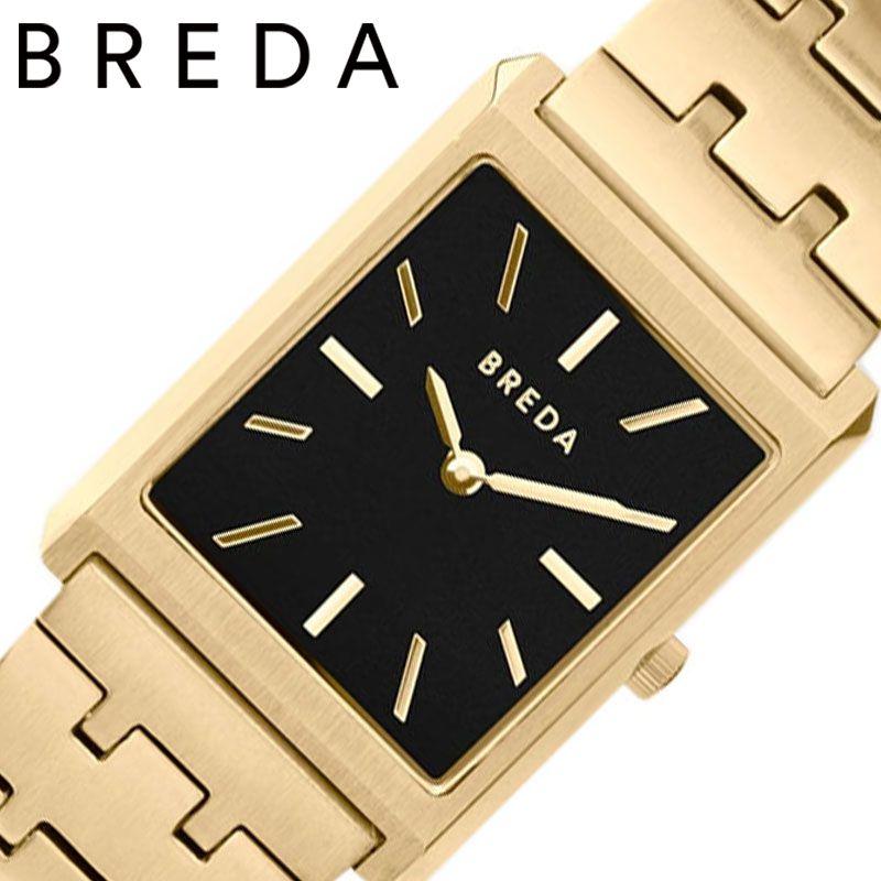 【アンティーク風ウォッチ】 小さい 腕時計 革ベルト スクエア型 女性 秒針 シンプル BREDA時計 BREDA 腕時計 ブレダ 時計 ヴァージル VIRGIL レディース ブラック BREDA-1740C [ 正規品 ブランド シンプル おしゃれ レトロ ヴィンテージ 華奢 誕生日 プレゼント ギフト ]