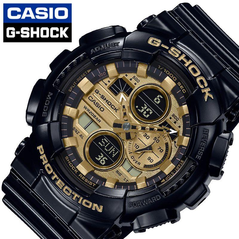 [5年保証] カシオ腕時計 CASIO時計 CASIO 腕時計 カシオ 時計 ジーショック G-SHOCK メンズ 男性 ブラック イエロー GA-140GB-1A1JF [ 人気 ブランド おすすめ おしゃれ かっこいい Gショック ジーショック ブラック ゴールド メカ感 大人 機械感 光沢 プレゼント ギフト ]