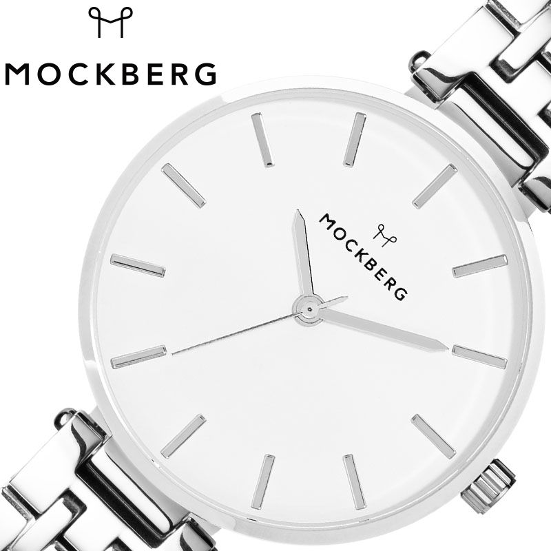 [当日出荷] 北欧 シンプル モックバーグ腕時計 MOCKBERG時計 MOCKBERG 腕時計 モックバーグ 時計 レディース 女性 20代 30代 40代 ホワイト MO519 [ 人気 ブランド おすすめ おしゃれ かわいい ホワイト シルバー メタル 大人 小さめ 高級感 プレゼント ギフト ]