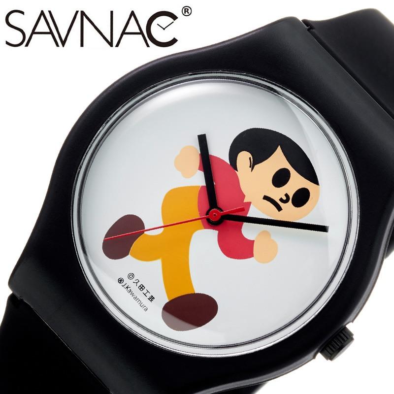 【プレゼントにおすすめ】 おもしろ雑貨 グッズ 時計 秒針 見やすい サブナック腕時計 SAVNAC時計 面白い 父の日 ギフト SAVNAC 腕時計 サブナック とび太くん 男性 女性 男性 女性 ホワイト TOB01 [ 正規品 ブランド シンプル おしゃれ 飛び出し とび太くん 注意 誕生日 ]