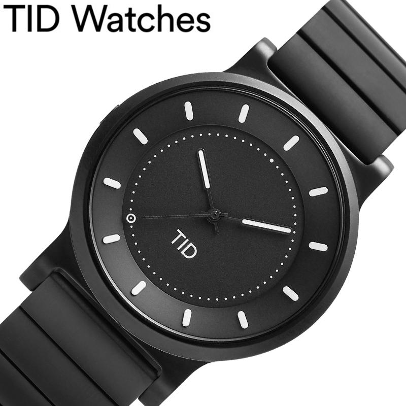 [当日出荷] ティッドウォッチズ腕時計 TIDWatches時計 TID Watches 腕時計 ティッド ウォッチズ 時計 No.4 40mm メンズ 男性 ブラック 40101012 [ ブランド 人気 正規品 北欧 シンプル 個性的 シンプル バンド ベルト ガンメタ おしゃれ 誕生日 ギフト プレゼント ]