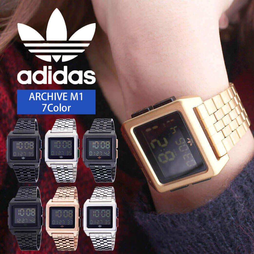 \ペアウォッチ/ デジタル 腕時計 おしゃれ スクエア型 アディダス腕時計 adidas時計 adidas レディース ブランド アディダス スニーカー 時計 アーカイブ ARCHIVE_M1 メンズ [ デジタル スポーツ シンプル フルメタル 韓国 ファッション ストリート プレゼント ギフト ]