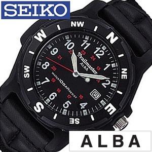 セイコーアルバ 腕時計 AQGN403 [SEIKOALBA時計] 腕時計 ( SEIKO ALBA 腕時計 セイコー アルバ 時計 ) [革 ベルト 正規品 クォーツ アナログ スタンダード ブラウン シルバー おしゃれ ブランド プレゼント ギフト ] メンズ ホワイト