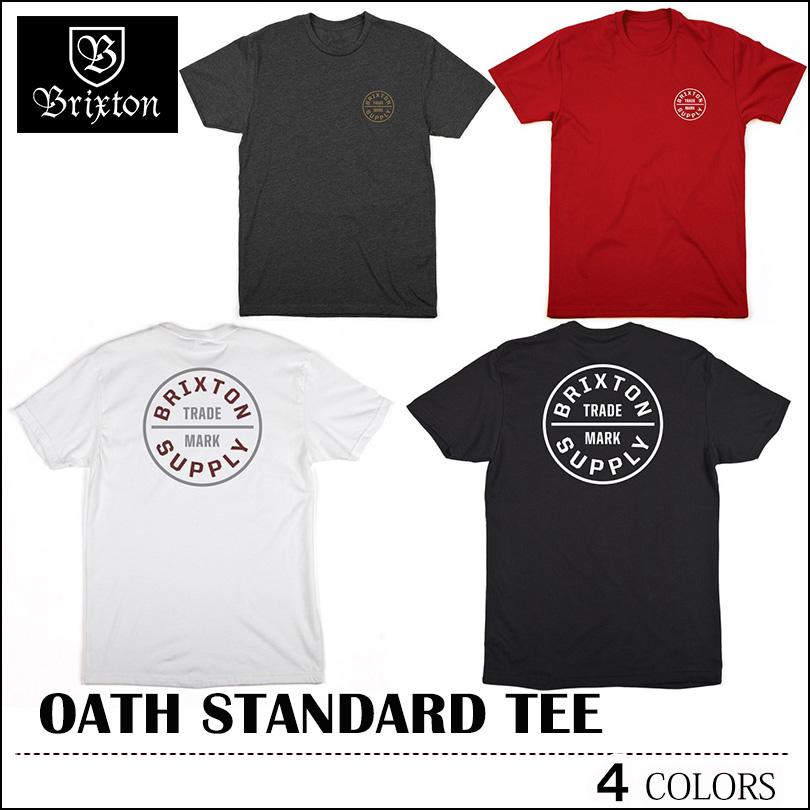 Brixton Oath Short Sleeve Standard Tee gray charcoal gold