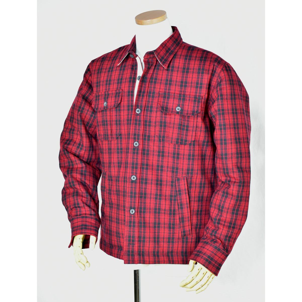 TOMMY HILFIGERメンズ トミーフィルフィガーウール中綿入りシャツジャケット