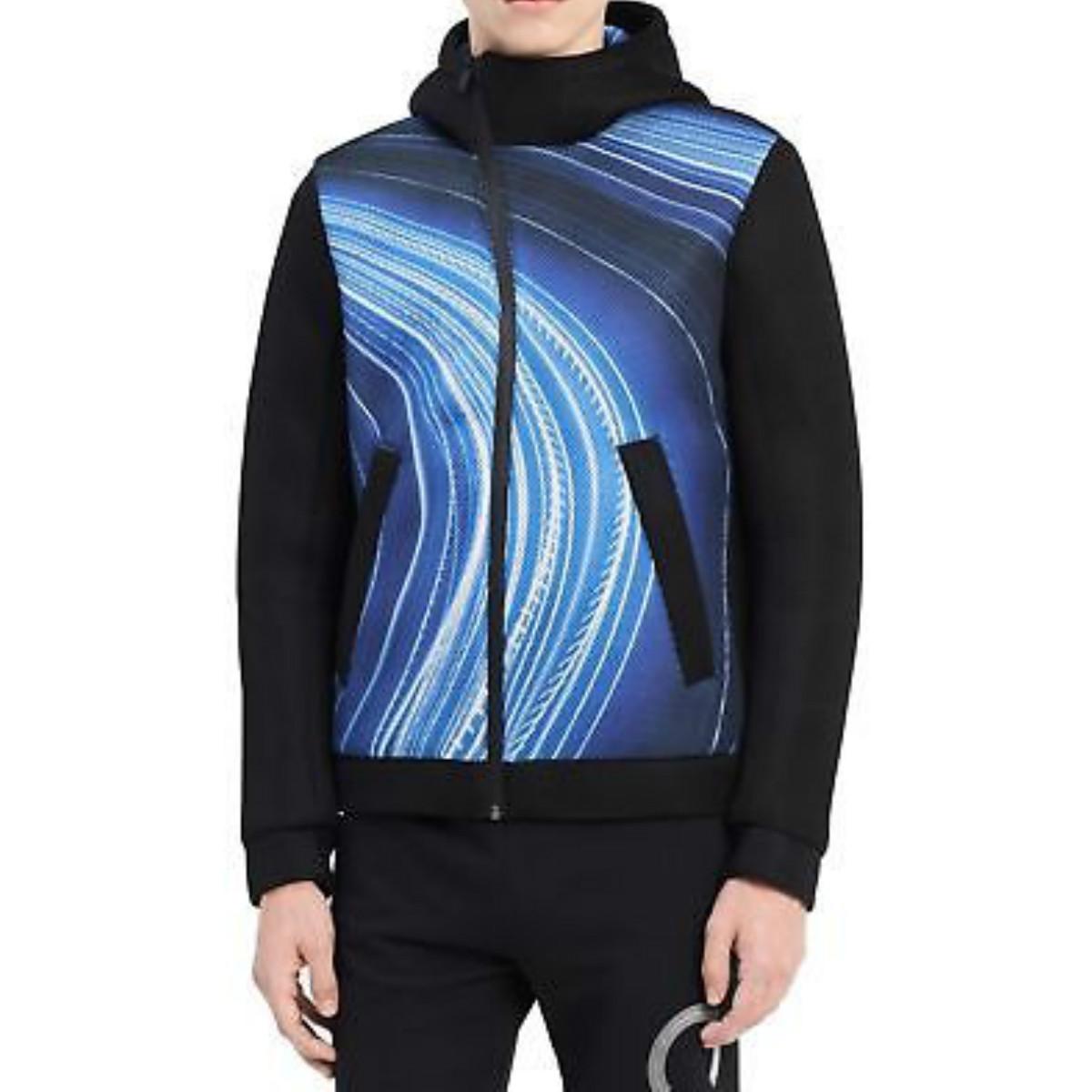 Calvin Klein メンズカルバンクラインフルジッププリントパーカー