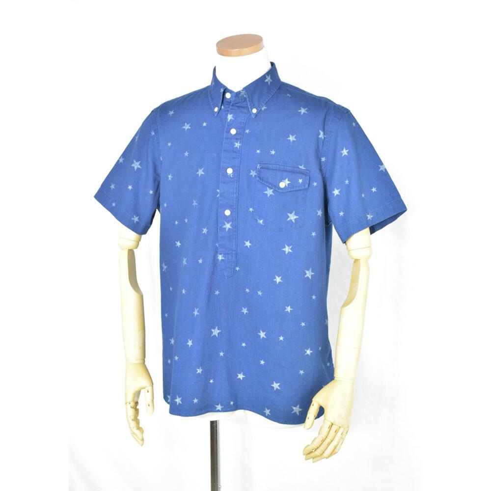 Ralph Laurenメンズ半袖スタープリントボタンダウンシャツ