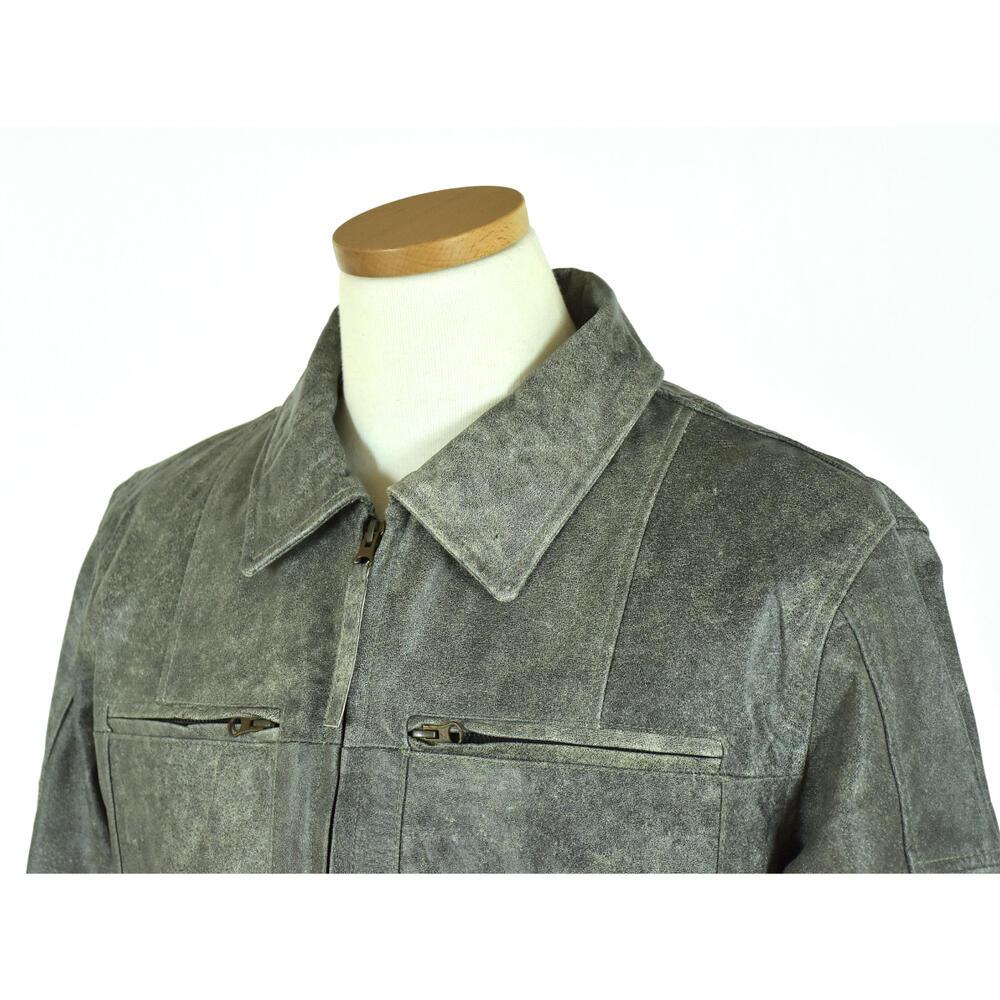【おトク】 ヴィンテージ加工Buffalo Leatherジャケットメンズ・グレー:CAPTAIN, ヤバケイマチ:e26bb7c5 --- nagari.or.id