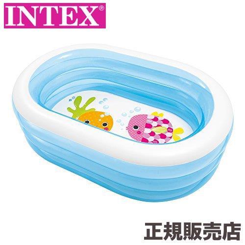 プール ビニールプール 代引き不可 家庭用 ベランダ 庭 キッズ 子供用 163×107×46cm 安全 幼児 インテックス INTEX オーバルプール 57482 intex
