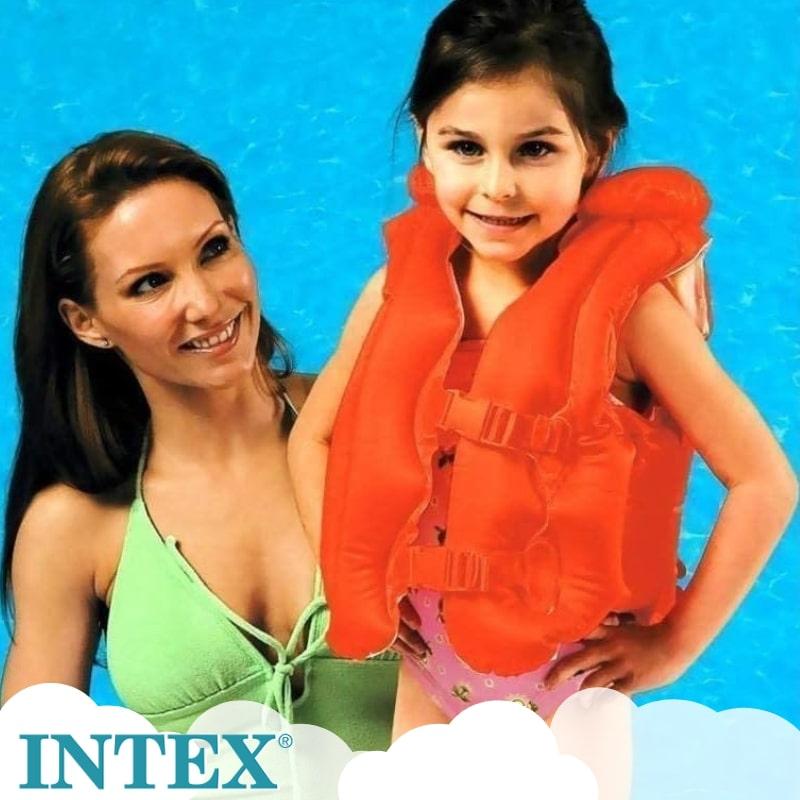 プール 浮輪 フロート スイムベスト 激安セール キッズ 再再販 子供用 INTEX デラックススイムベスト インテックス intex 58671