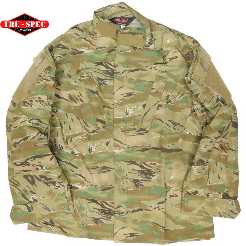 Tru-Spec(トゥルースペック)Tactical Response Uniform Shirt AT Tiger タクティカル レスポンス ユニフォーム シャツ オールテレン タイガー [ポリコットン混紡リップストップ][ショートサイズ]
