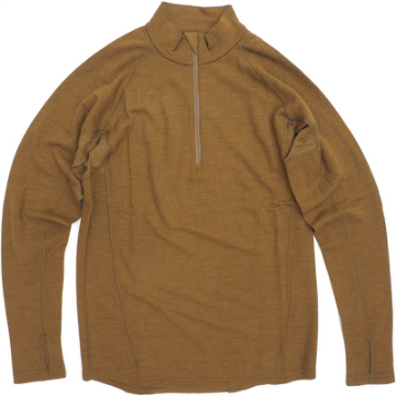 【US/米軍】New Balance System 7 (NBS7) Merino Wool LONG SLEEVE 1/4 ZIP [COYOTE][MIL811]