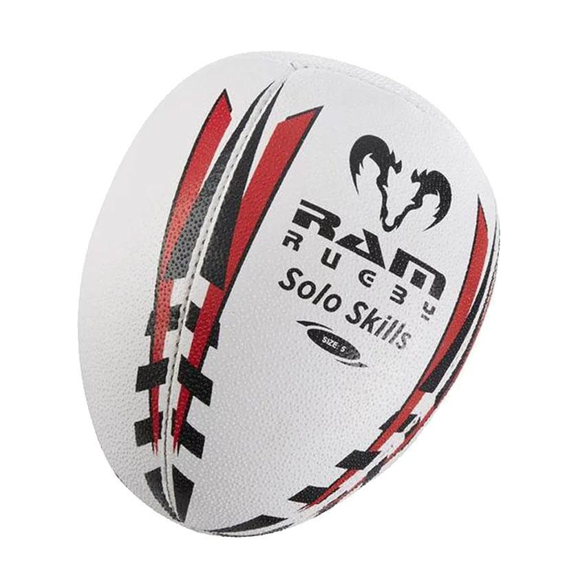 一人でパス練習のできるスキルアップ用ボール RAM ラム ソロトレーニング ラグビーボール 練習球 日時指定 ラグビー 壁当て 春の新作シューズ満載 5号球