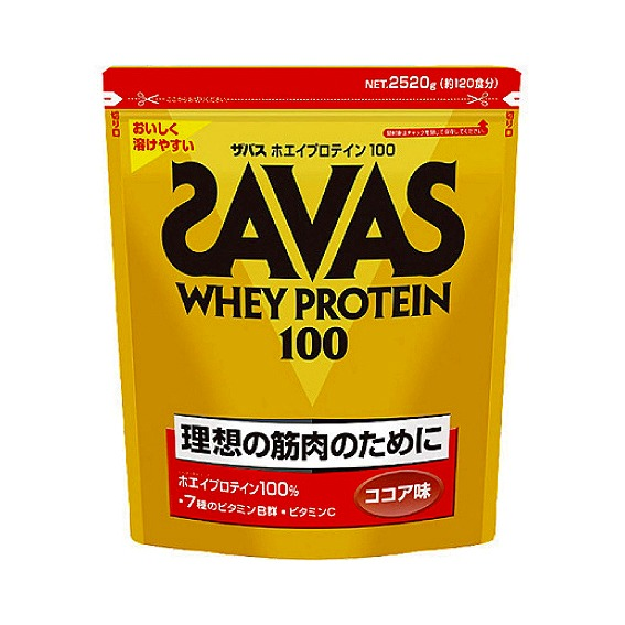 【ZAVAS】 ザバス ホエイ プロテイン 100 2520g 120食分 明治 ココア