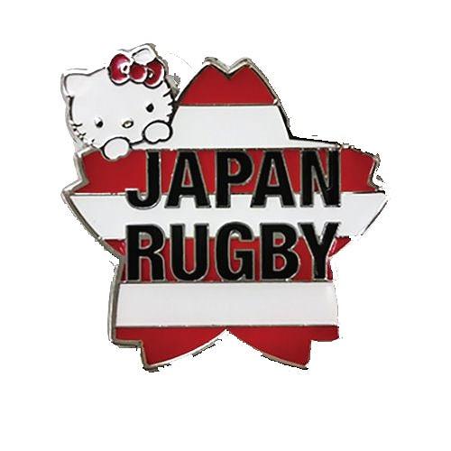 ディスカウント ラグビー日本代表×ハローキティのコラボアクリルキーホルダー JAPAN 上品 ラグビー日本代表 ハローキティ ピンバッジ ラグビー サクラボーダー 61069-1