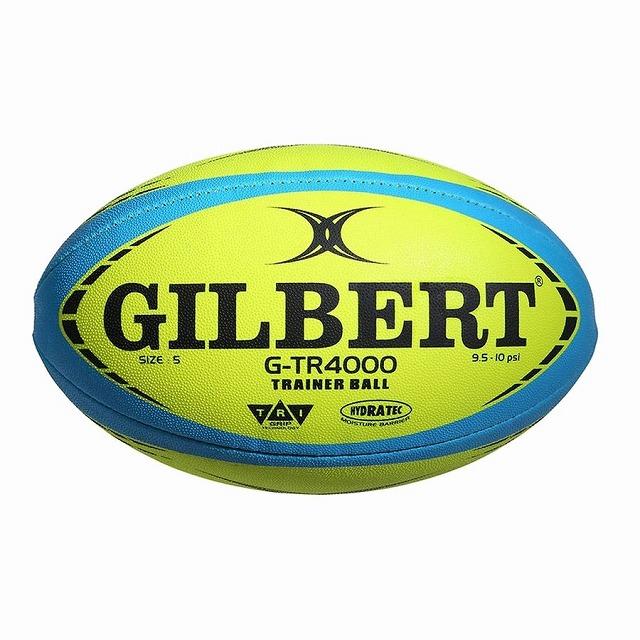 ギルバートの練習球 人気上昇中 GILBERT ギルバート ラグビーボール 5号 蛍光イエロー 低価格 G-TR4000 ラグビー GB9178