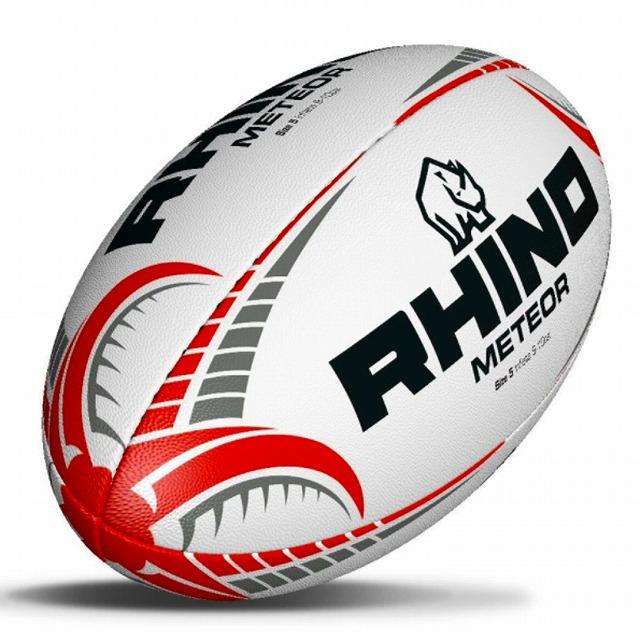 ライノ製の高品質のラグビーボール RHINO ライノ Meteor 好評 ラグビー Match 期間限定で特別価格 ラグビーボール 5号