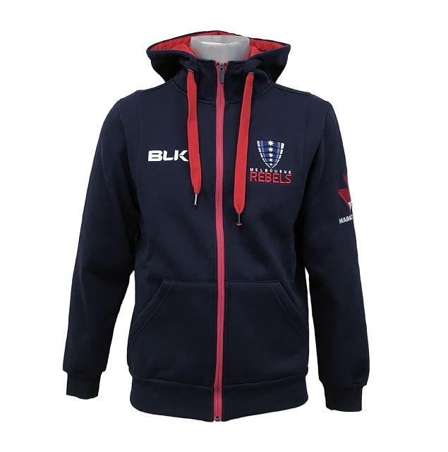 【BLK】メルボルン レベルズ パフォーマンス フルジップ フーディ 2018【スーパーラグビー】